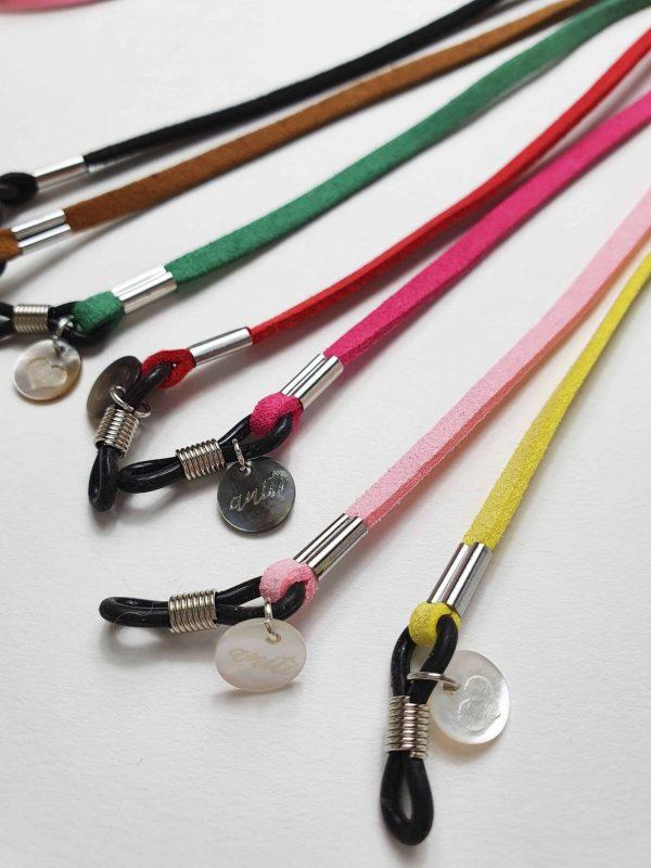 Brillenband Lederimitat verschiedene Farben