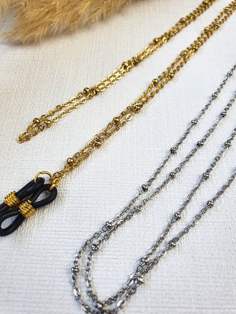 Brillenkette Gold Silber