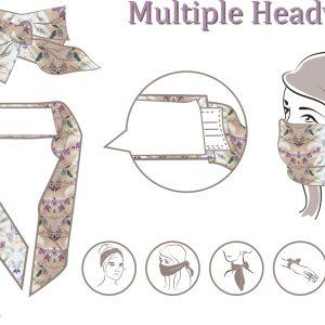 Mund-Nasen-Haarband flieder