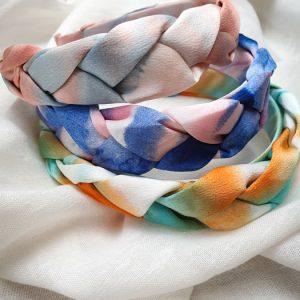 Haarreif geflochten im Batik Design