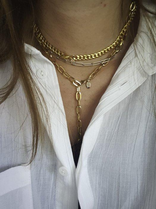Edelstahl Halsketten Gliederketten